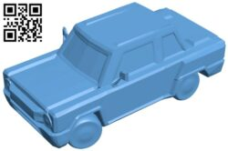Zaz cartoon – car B008841 file obj free download 3D Model for CNC and 3d printer