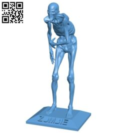 Zombie B008679 file stl free download 3D Model for CNC and 3d printer