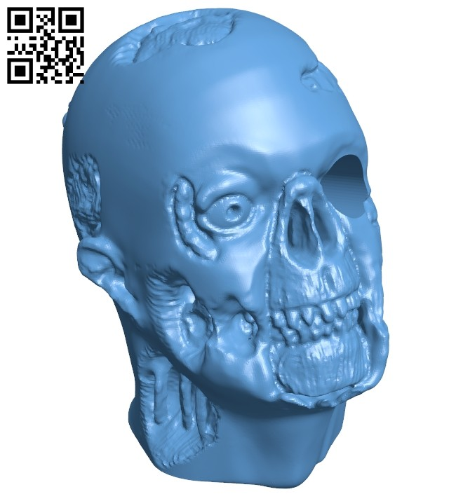 Zombie pen holder - head B008840 file obj free download 3D Model for CNC and 3d printer
