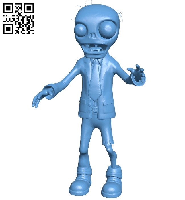 Zombie pvz B008672 file stl free download 3D Model for CNC and 3d printer