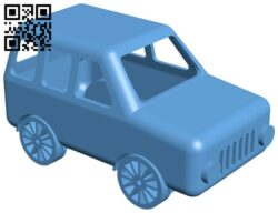 jeep car B008842 file obj free download 3D Model for CNC and 3d printer