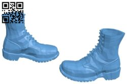 Army boots – shoes B008932 file obj free download 3D Model for CNC and 3d printer