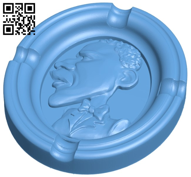 Ashtray B009034 file obj free download 3D Model for CNC and 3d printer