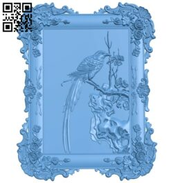 Bird painting A005925 download free stl files 3d model for CNC wood carving