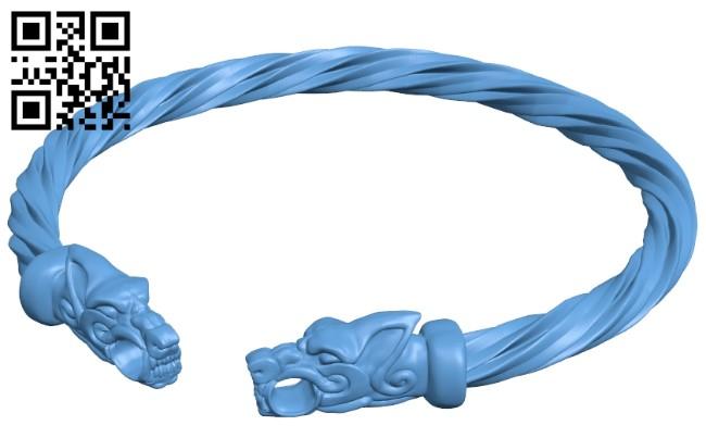 Bracelet viking B008970 file obj free download 3D Model for CNC and 3d printer