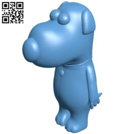 Brian griffin – dog B009025 file obj free download 3D Model for CNC and 3d printer