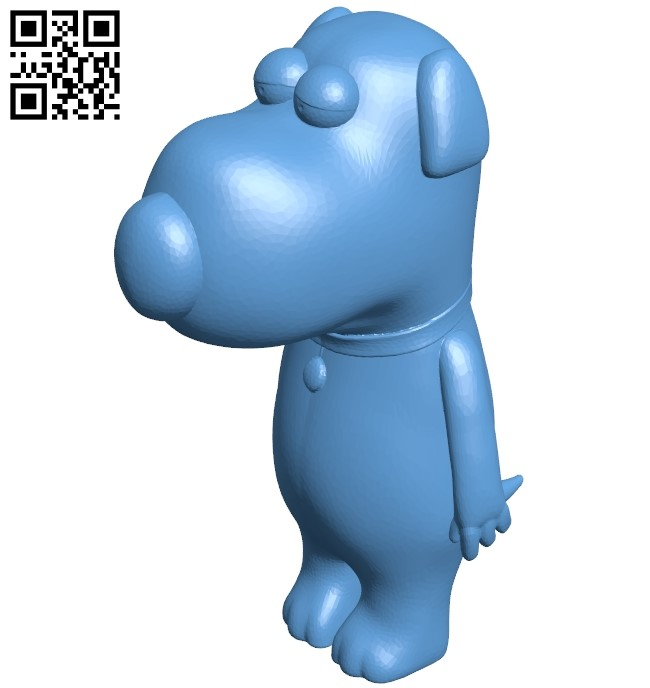 Brian griffin - dog B009025 file obj free download 3D Model for CNC and 3d printer
