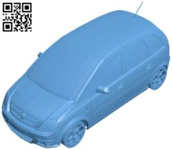 Chevrolet Meriva car B008933 file obj free download 3D Model for CNC and 3d printer