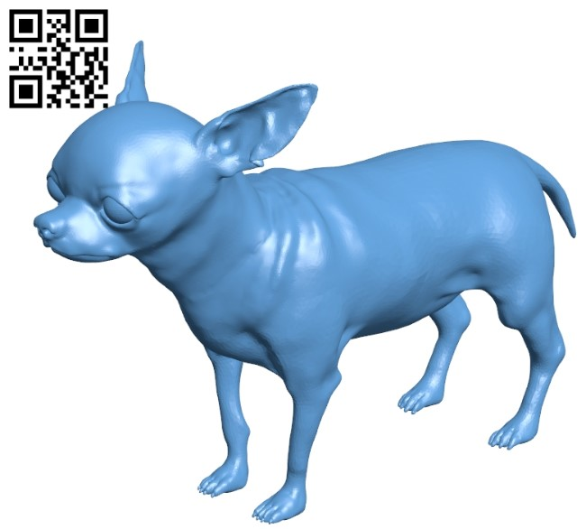 Chihuahua - dog B008998 file obj free download 3D Model for CNC and 3d printer