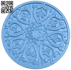 Circular disk pattern A005906 download free stl files 3d model for CNC wood carving