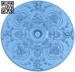 Circular disk pattern A005907 download free stl files 3d model for CNC wood carving