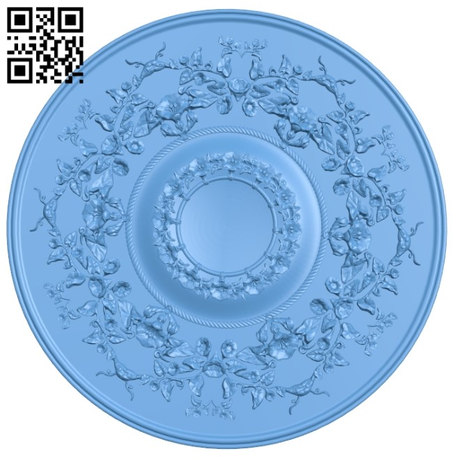 Circular disk pattern A005908 download free stl files 3d model for CNC wood carving