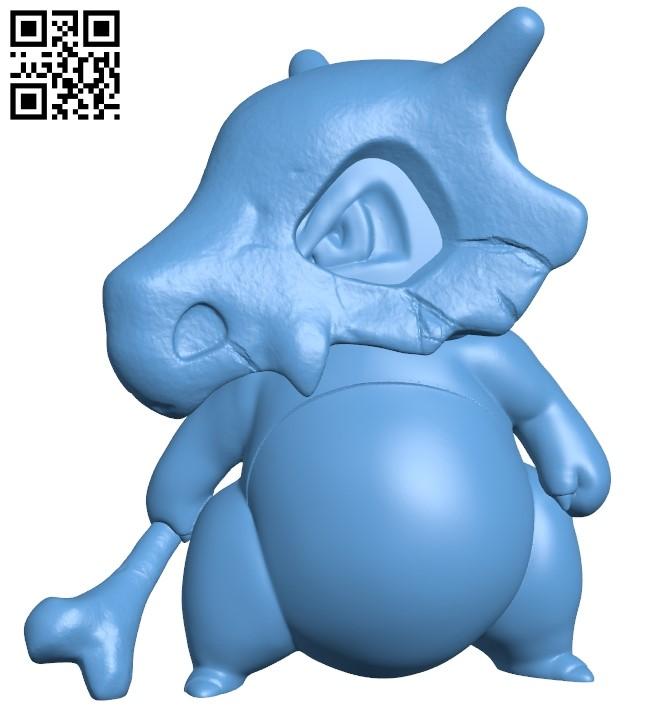 Cubone - Pokemon B008964 file obj free download 3D Model for CNC and 3d printer