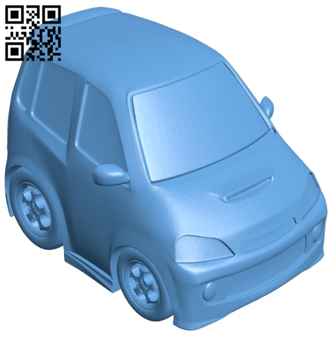 Daihatsu - car B009024 file obj free download 3D Model for CNC and 3d printer