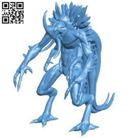 Demon alien B008995 file obj free download 3D Model for CNC and 3d printer