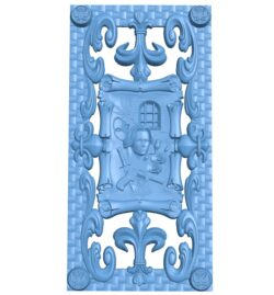 Door pattern A005903 download free stl files 3d model for CNC wood carving