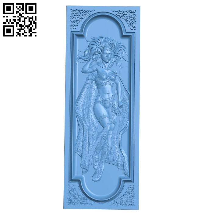 Door pattern A005904 download free stl files 3d model for CNC wood carving