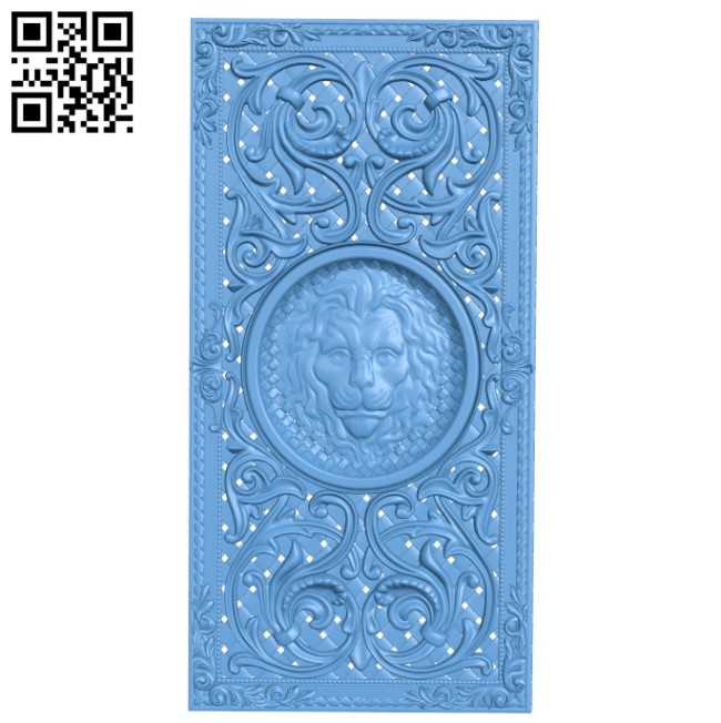 Door pattern A005923 download free stl files 3d model for CNC wood carving
