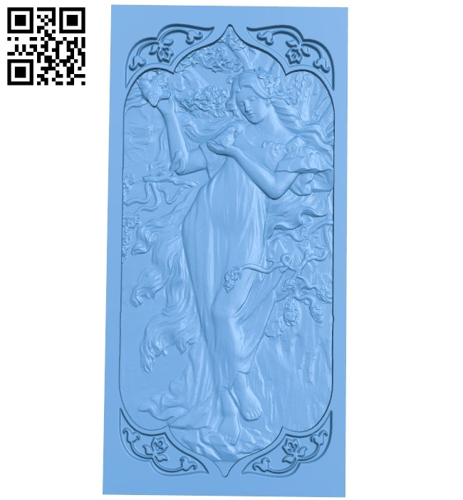 Door pattern A005961 download free stl files 3d model for CNC wood carving