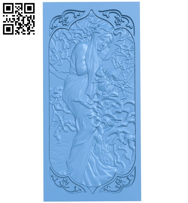 Door pattern A005962 download free stl files 3d model for CNC wood carving