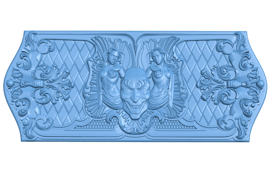 Door pattern A005967 download free stl files 3d model for CNC wood carving