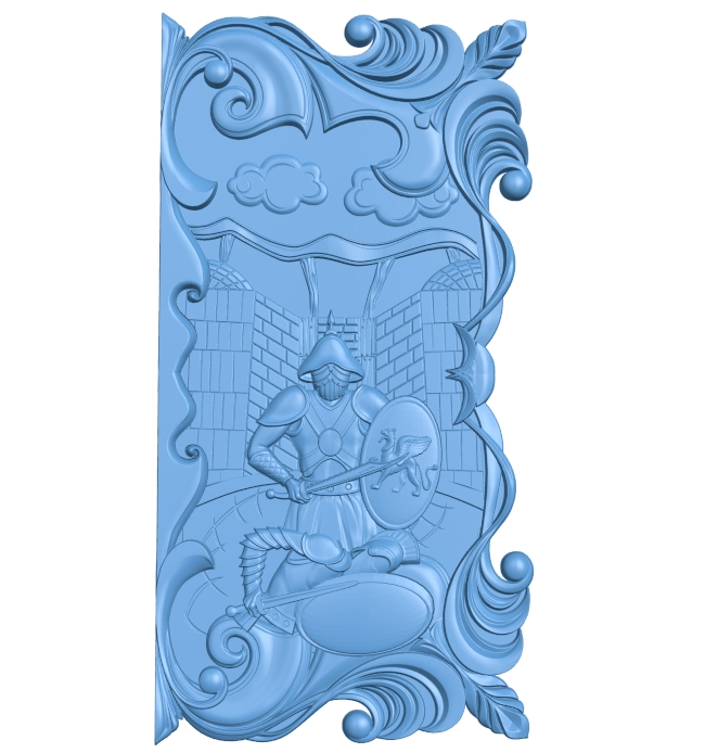 Door pattern A005968 download free stl files 3d model for CNC wood carving