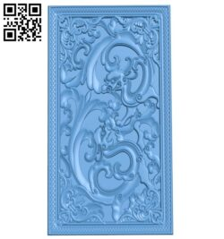 Door pattern A005969 download free stl files 3d model for CNC wood carving