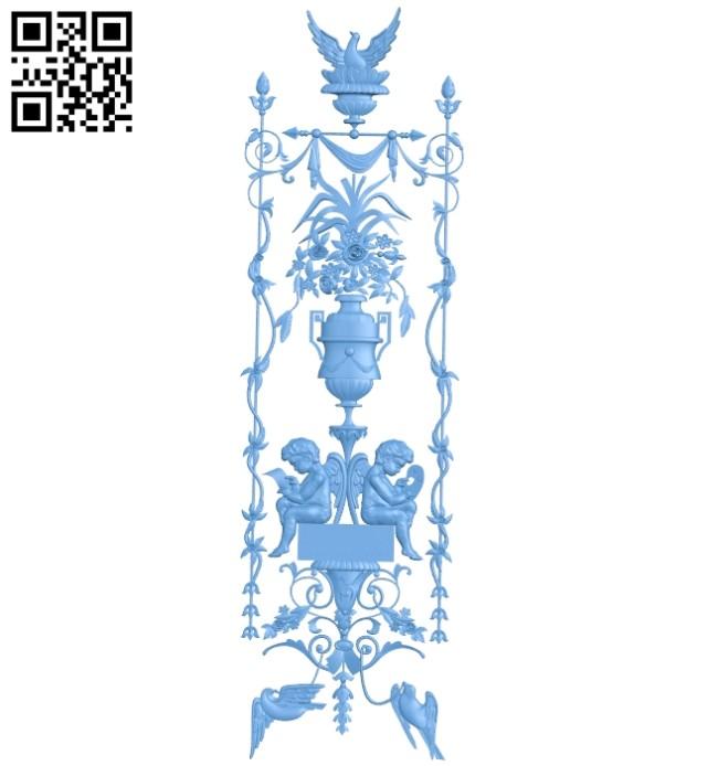 Door pattern decor design A005901 download free stl files 3d model for CNC wood carving