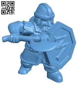 Dwarf Soldier man B008936 file obj free download 3D Model for CNC and 3d printer