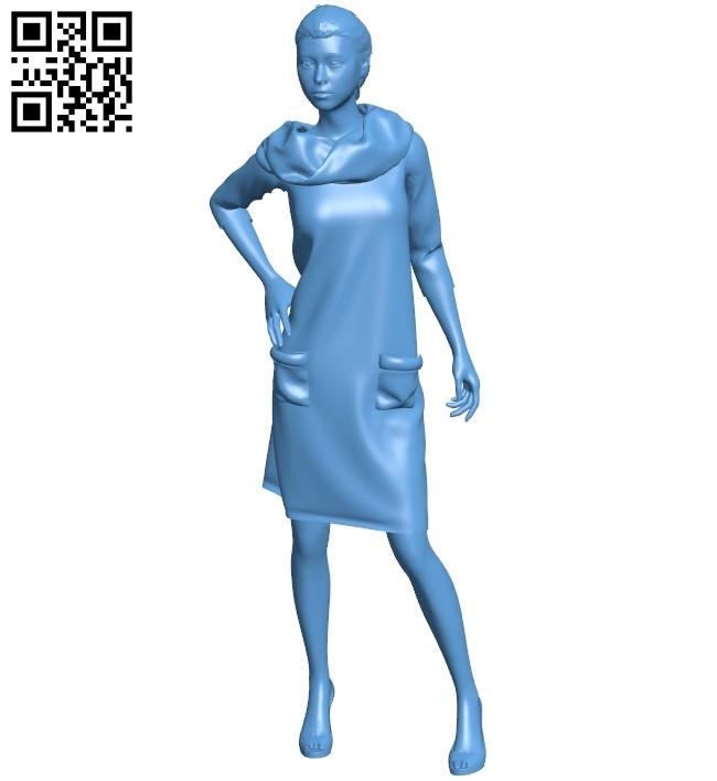Elegant woman B008974 file obj free download 3D Model for CNC and 3d printer