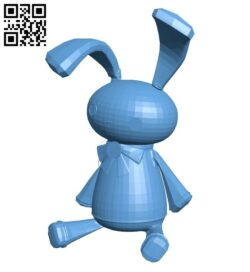 Evil bunny B009009 file obj free download 3D Model for CNC and 3d printer