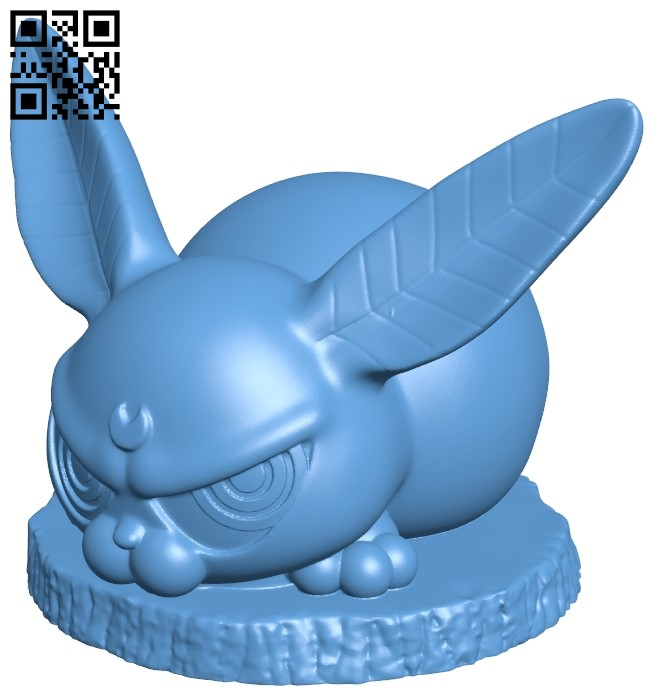 Evilier bunny B009007 file obj free download 3D Model for CNC and 3d printer