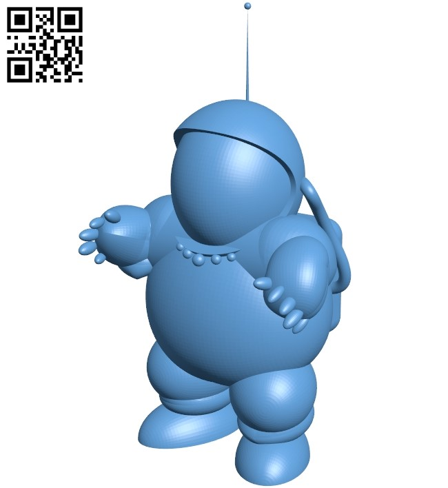 Fat Astronaut B009028 file obj free download 3D Model for CNC and 3d printer