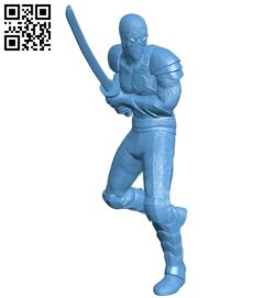 Foot Soldier B008972 file obj free download 3D Model for CNC and 3d printer