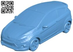 Ford Fiesta Zetec S 2009 – car B008950 file obj free download 3D Model for CNC and 3d printer