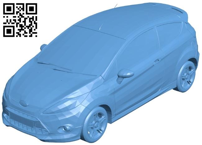 Ford Fiesta Zetec S 2009 - car B008950 file obj free download 3D Model for CNC and 3d printer