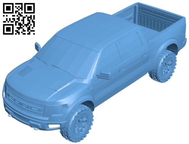 Ford raptor car B008959 file obj free download 3D Model for CNC and 3d printer