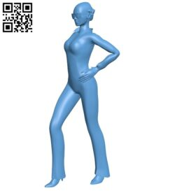 Girl B008921 file obj free download 3D Model for CNC and 3d printer