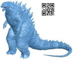 Godzilla B008967 file obj free download 3D Model for CNC and 3d printer