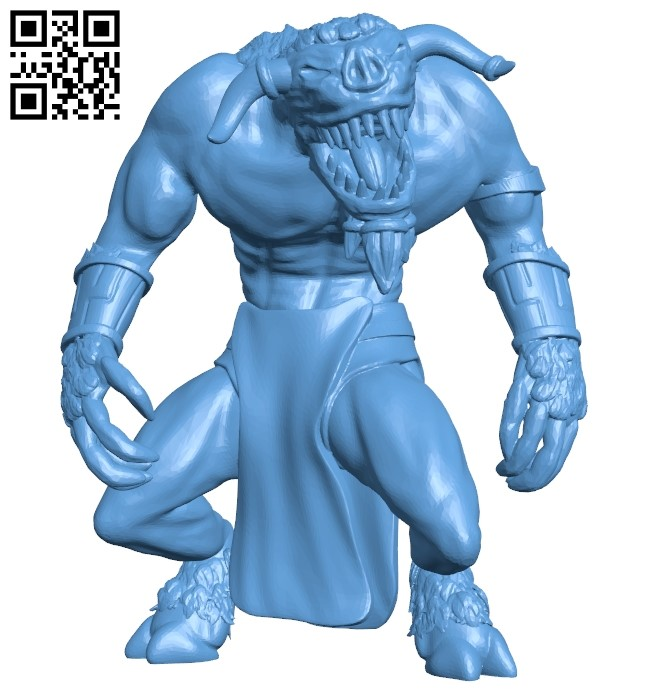 Goristro B009010 file obj free download 3D Model for CNC and 3d printer