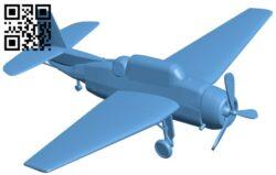 Grumman TBF – aircraft B009022 file obj free download 3D Model for CNC and 3d printer