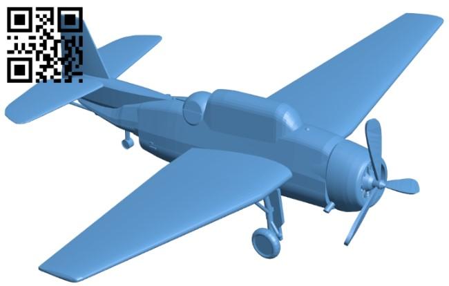 Grumman TBF - aircraft B009022 file obj free download 3D Model for CNC and 3d printer