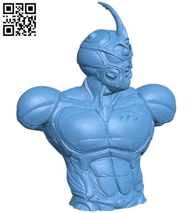 Guyver bust B008924 file obj free download 3D Model for CNC and 3d printer