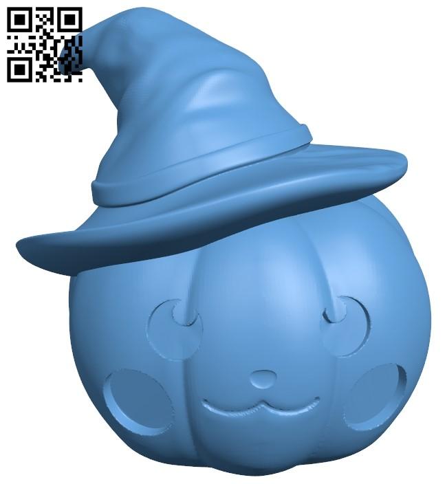 Halloween Pumpkin pumpkin B009014 file obj free download 3D Model for CNC and 3d printer