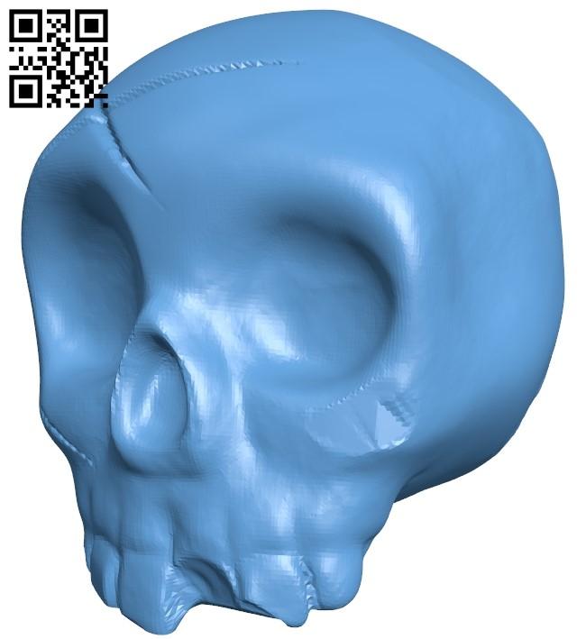 Halloween Pumpkin skull B009017 file obj free download 3D Model for CNC and 3d printer