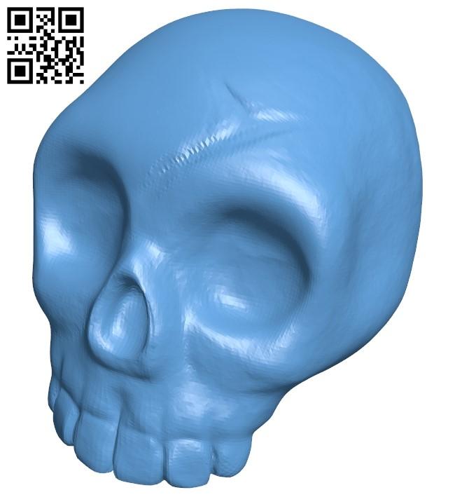 Halloween Pumpkin skull B009018 file obj free download 3D Model for CNC and 3d printer