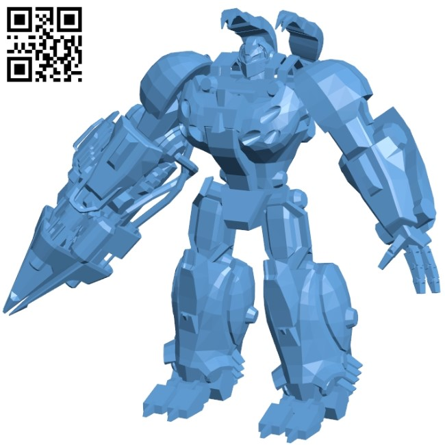 Hard shell - robot B008952 file obj free download 3D Model for CNC and 3d printer