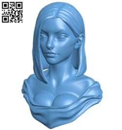 Head Poses women B008945 file obj free download 3D Model for CNC and 3d printer