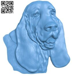 Head dog A005926 download free stl files 3d model for CNC wood carving