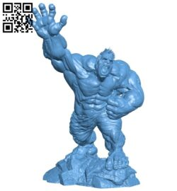 Hulk – superhero B008993 file obj free download 3D Model for CNC and 3d printer